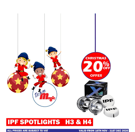 IPF spotlights h3 and h4 Christmas offer 2020