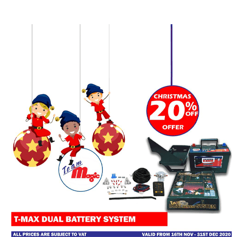 T max dual battery system Christmas Offer 2020