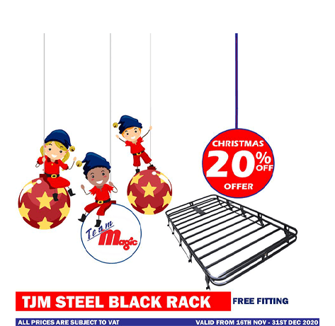tjm steel black rack christmas 2020 offer